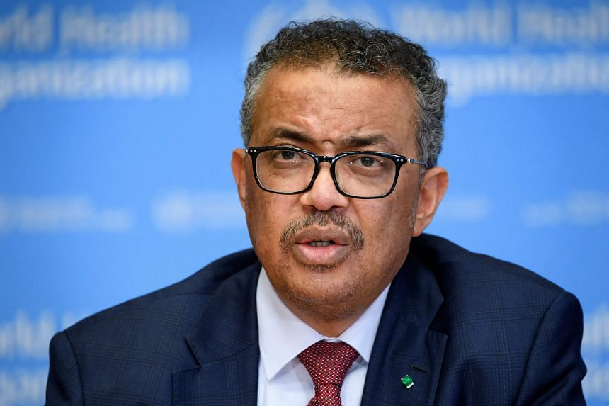 World Health Organization Director-General Tedros Adhanom Ghebreyesus attends a daily press briefing at the WHO headquaters on March 6, 2020.
