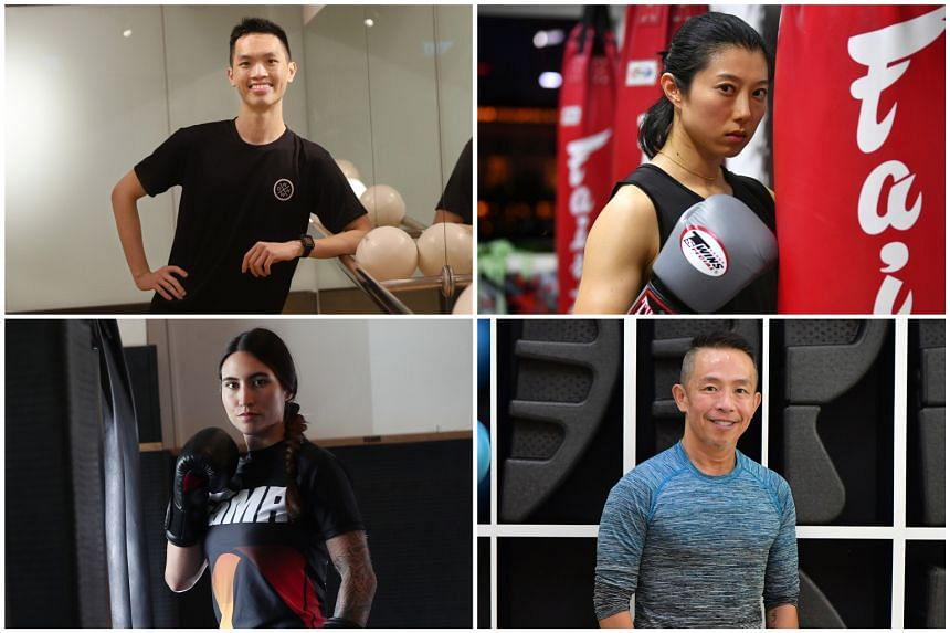 (Clockwise from top left) Daryl Lim, Joey Kuok, Collin Low and Kirstie Gannaway.