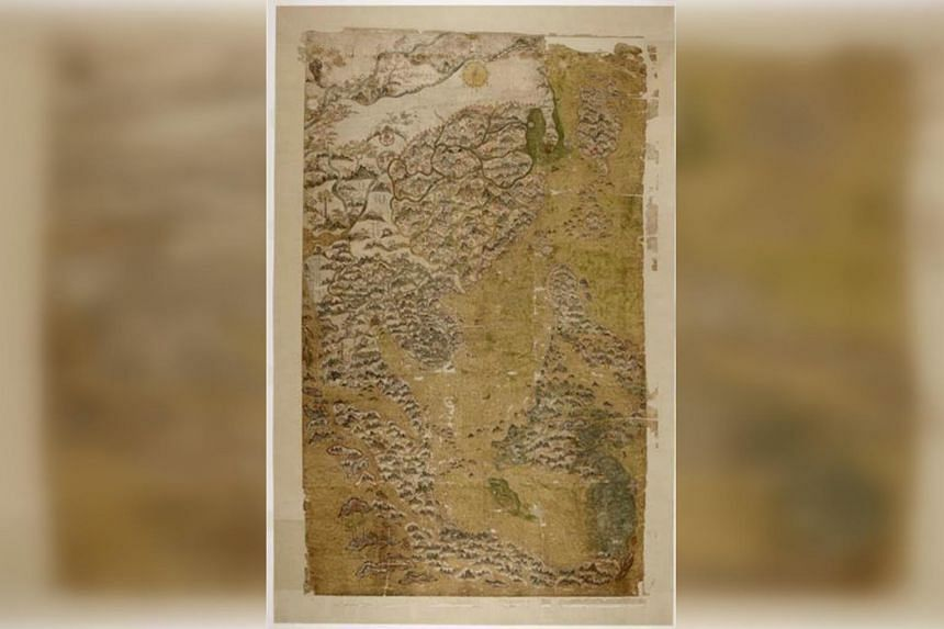 Selden's Map of China and Southeast Asia c. 1606–1623. On loan from Bodleian Libraries, University of Oxford MS. Selden supra 105.