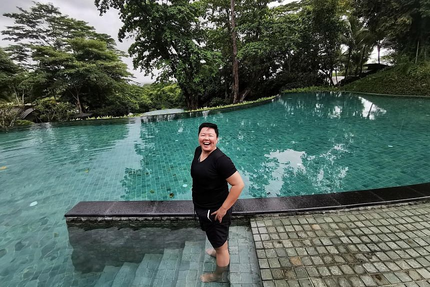 TCM physician Leong Weizhen takes two or three staycations each year.