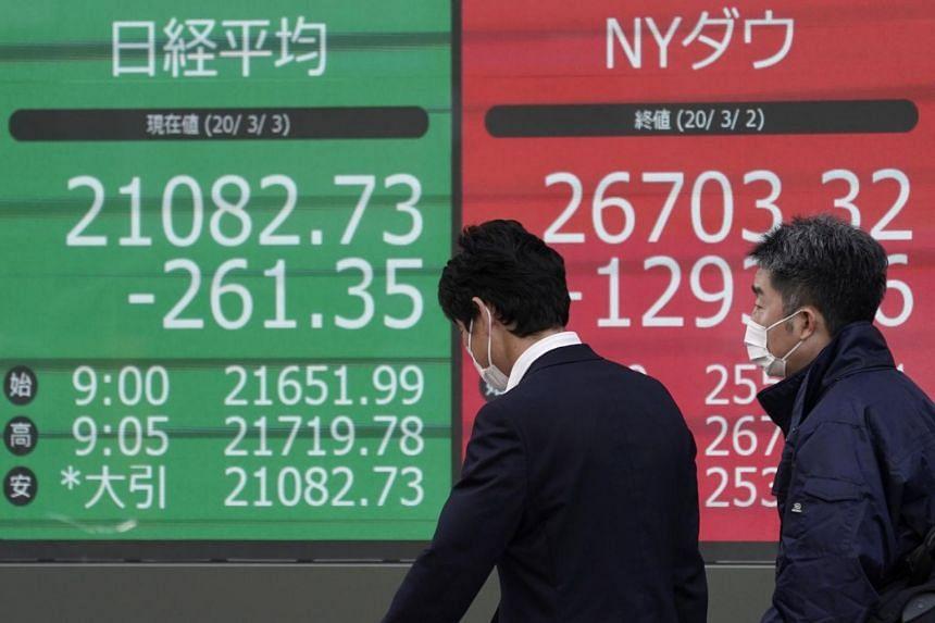 Japan's Nikkei fell 4.4 per cent and Australia's commodity-heavy market 5.3 per cent.