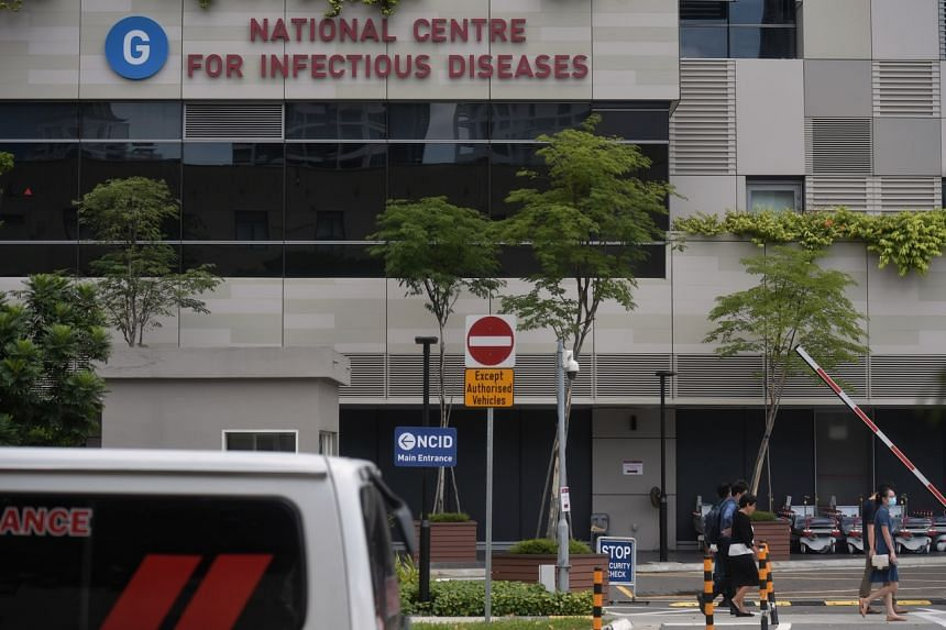 The National Centre for Infectious Diseases at Tan Tock Seng Hospital. Two Covid-19 patients in Singapore who tested positive for dengue were found later to not have the mosquito-borne disease.