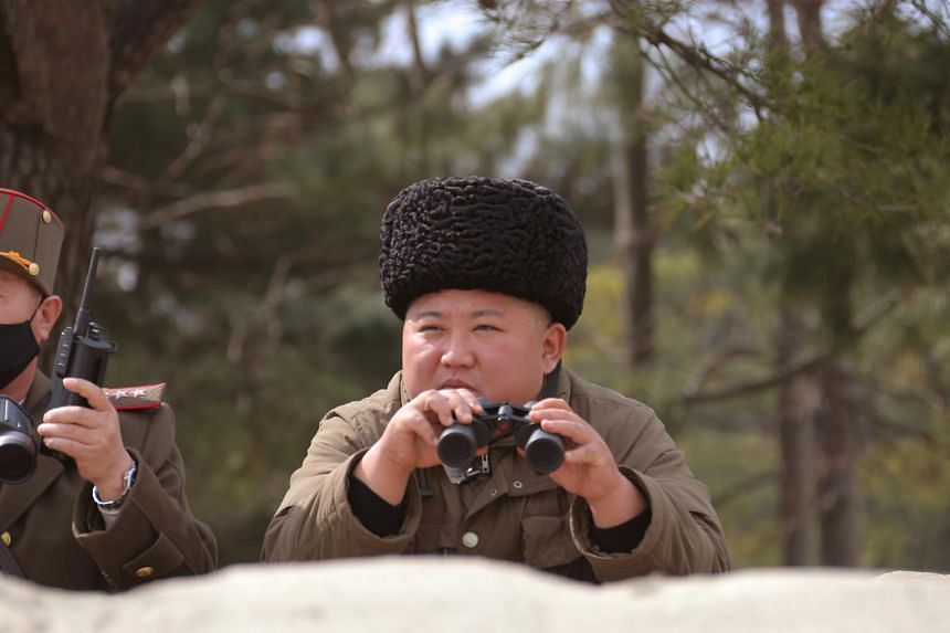 North Korean leader Kim Jong Un is seen in this undated picture released by North Korea's Korean Central News Agency on March 9, 2020.