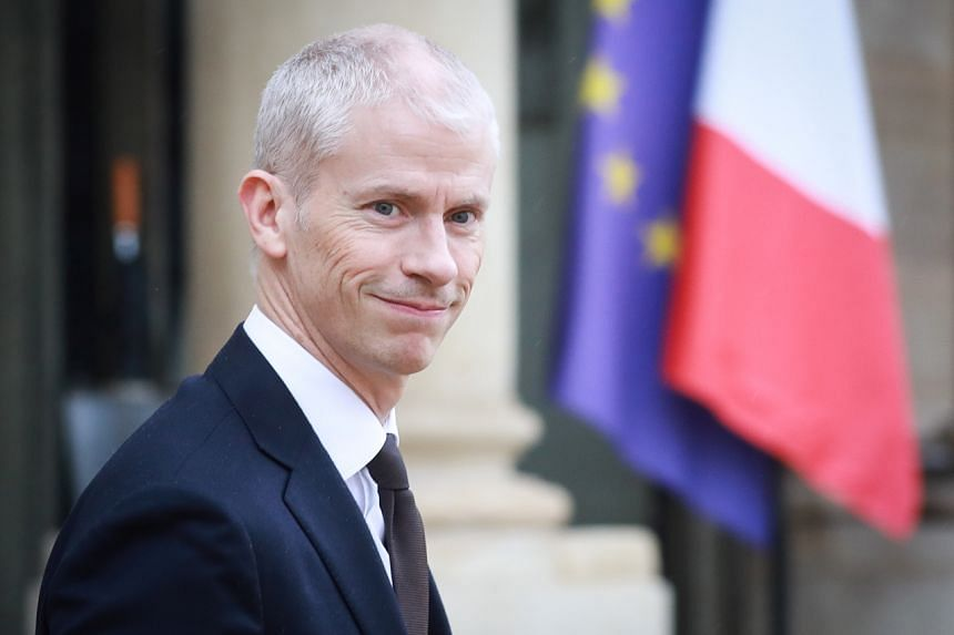 French Culture Minister Franck Riester leaves the Elysee Presidential Palace after a weekly cabinet meeting, on March 4, 2020, in Paris.
