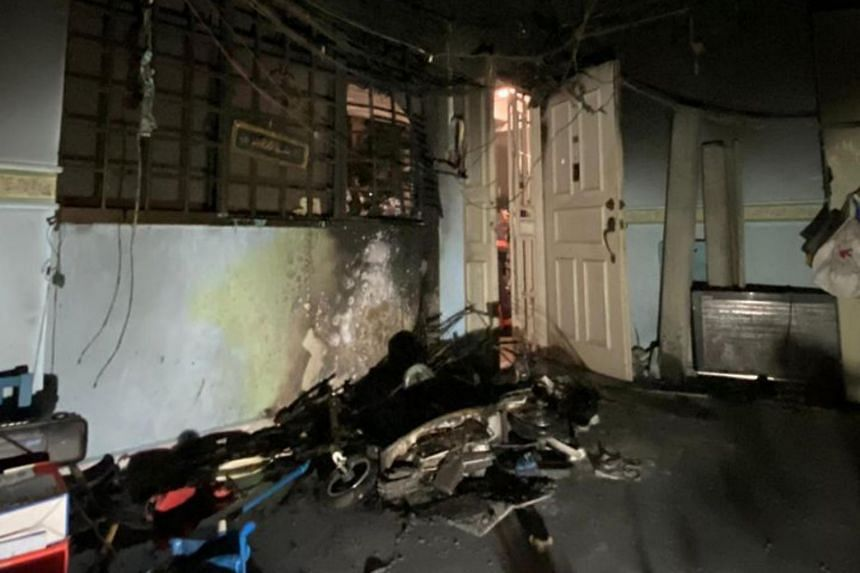 The Singapore Civil Defence Force said they responded to a fire at a fourth-floor unit at Block 111 Rivervale Walk on March 10, 2020.