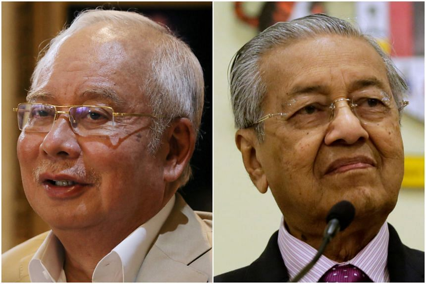 Tun Dr Mahathir Mohamad (right) claimed that it was former premier Najib Razak who was behind the conspiracy to topple the Pakatan Harapan government.