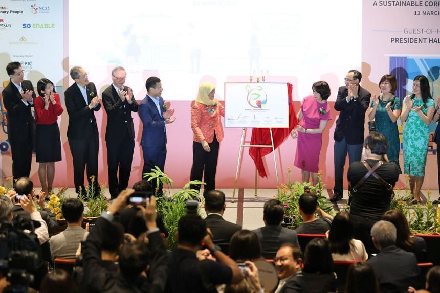 President Halimah Yacob launched the President's Challenge Enabling Employment Pledge on March 11, 2020.