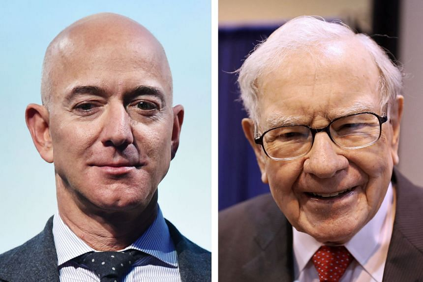 Indian magnate Mukesh Ambani, who lost US$5.8 billion, ceded the title of Asia's richest person to Mr Jack Ma, who lost a modest US$1.1 billion. Amazon.com founder Jeff Bezos (left) shed US$5.6 billion, while Berkshire Hathaway chairman Warren Buffet