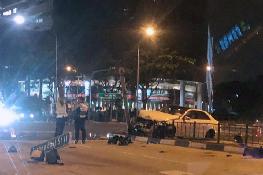 The police were alerted to an accident on March 10 involving a car and a motorcycle at the junction of Toh Guan Road and Boon Lay Way at 7.58pm.
