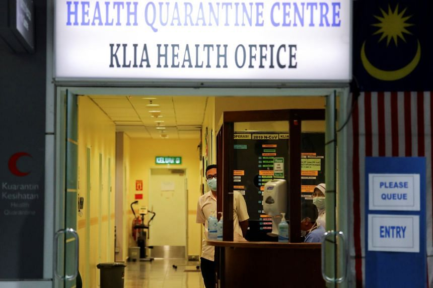 A quarantine centre at Kuala Lumpur International Airport. Malaysian authorities are tracking around 5,000 citizens across the country believed to have been potentially exposed to the coronavirus at a religious event on the outskirts of Kuala Lumpur.
