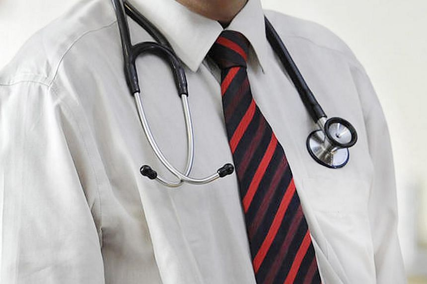 A doctor with a stethoscope.