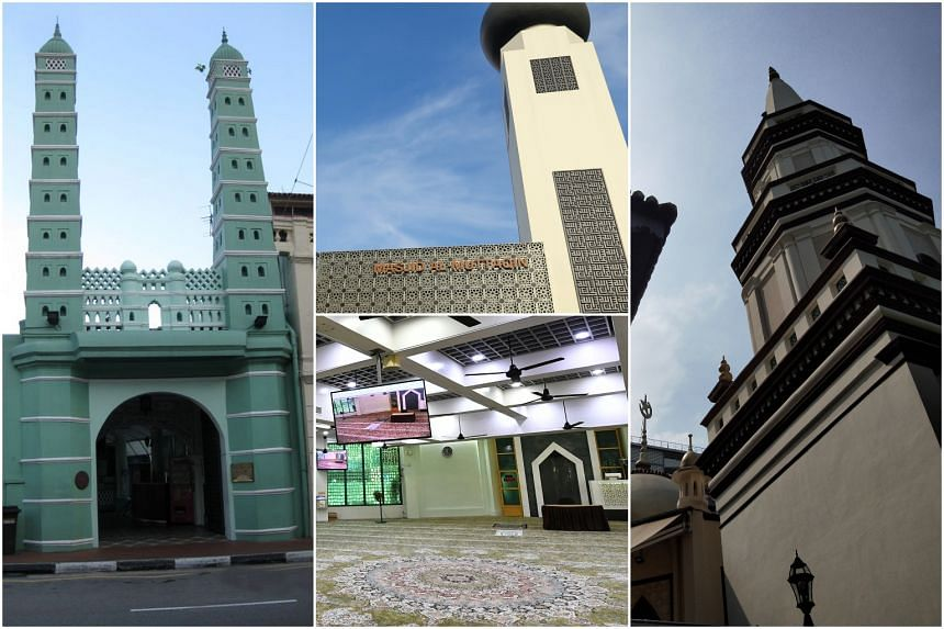 Four mosques have already been closed for cleaning. They are the (clockwise from left) Jamae Chulia mosque, Al Muttaqin mosque, Hajjah Fatimah mosque and Kassim mosque.