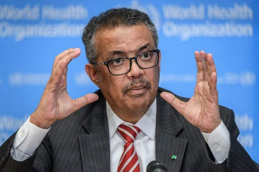 World Health Organisation Director-General Tedros Adhanom Ghebreyesus speaks during a daily press briefing on Covid-19 virus at the WHO headquarters in Geneva, on March 11, 2020.