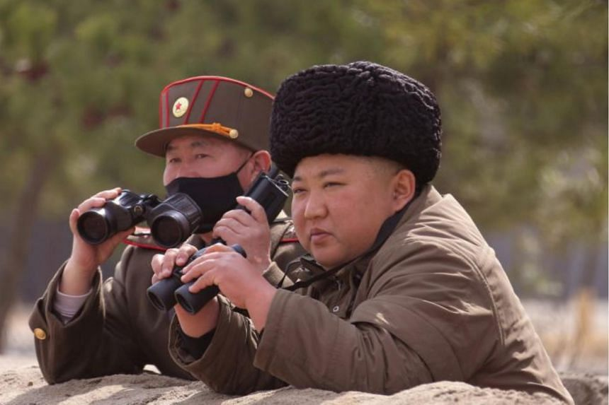 North Korean leader Kim Jong Un is seen in an undated photo released by state media Korean Central News Agency, on March 9, 2020.