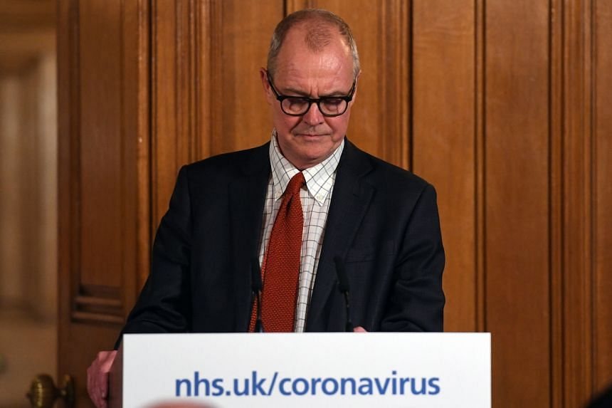 UK chief scientific adviser Patrick Vallance speaks during a news conference inside 10 Downing Street in London on March 12, 2020.