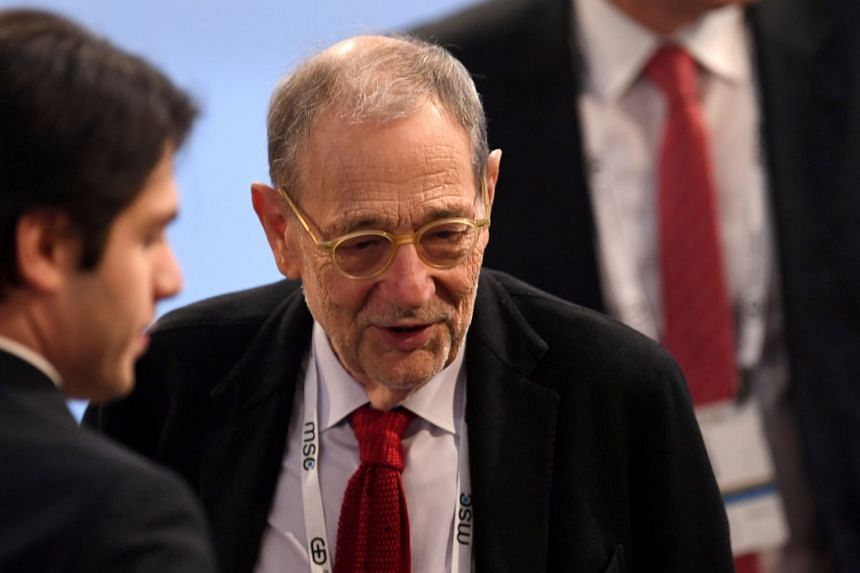 Javier Solana attends the annual Munich Security Conference in Germany Feb 15, 2020.