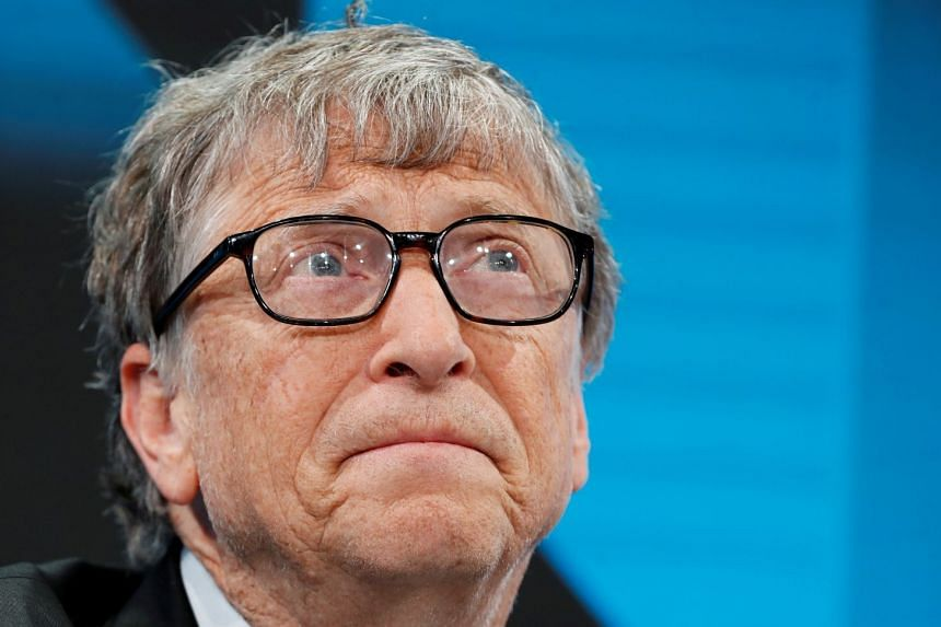 Gates (above) has also stepped down from the board of Warren Buffett's Berkshire Hathaway.