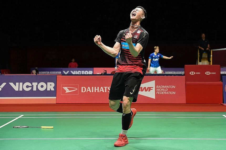 Lee Zii Jia during the Malaysia Masters in January, when he reached the last four. The 21-year-old, who has shot up the world rankings in the past year to No. 13, will play Danish second seed Viktor Axelsen in today's semi-finals. PHOTO: AGENCE FRANC