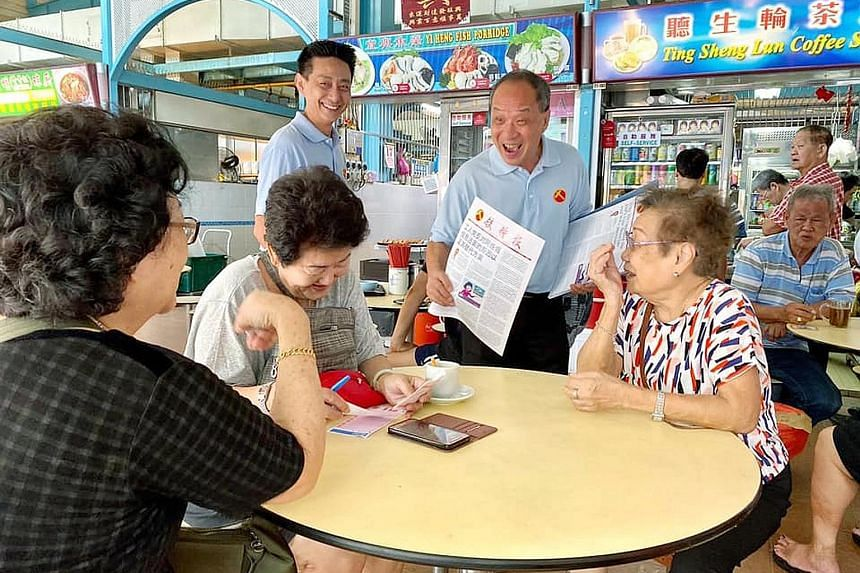 A photo posted online by the WP last November of Mr Low Thia Khiang, an MP for Aljunied GRC, visiting a New Upper Changi Road hawker centre. WP fielded a team in East Coast GRC in the 2015 election.