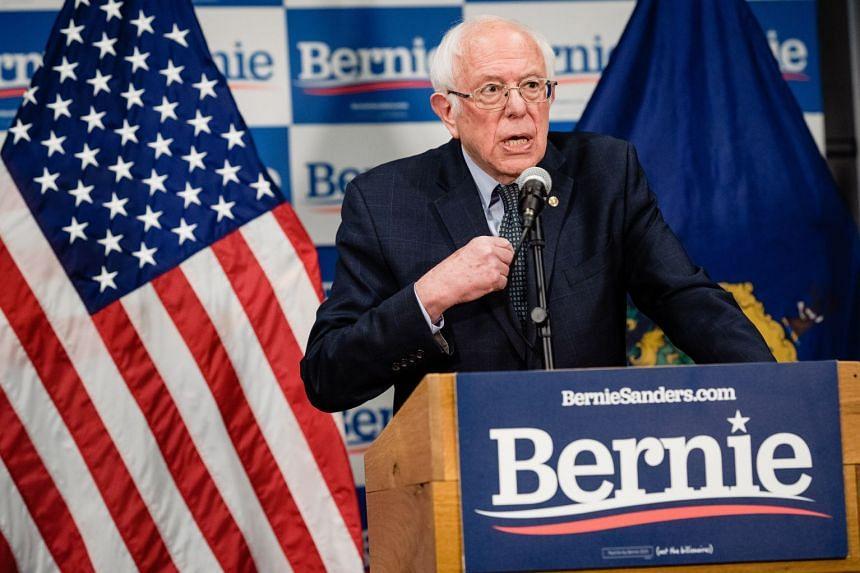 Democratic candidate Bernie Sanders speaks about coronavirus inVermont on March 12, 2020.