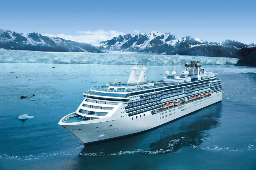 A file photo from 2017 shows the Golden Princess cruise ship. The Golden Princess was already in New Zealand waters before cruise ship arrivals were banned.