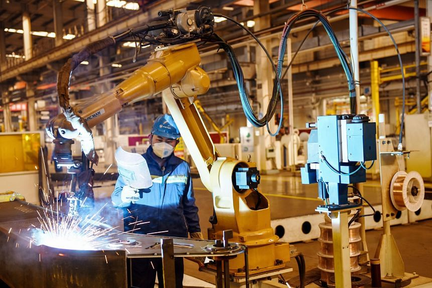 Industrial output is forecast to have shrunk 3 per cent from a year earlier in the first two months of the year.