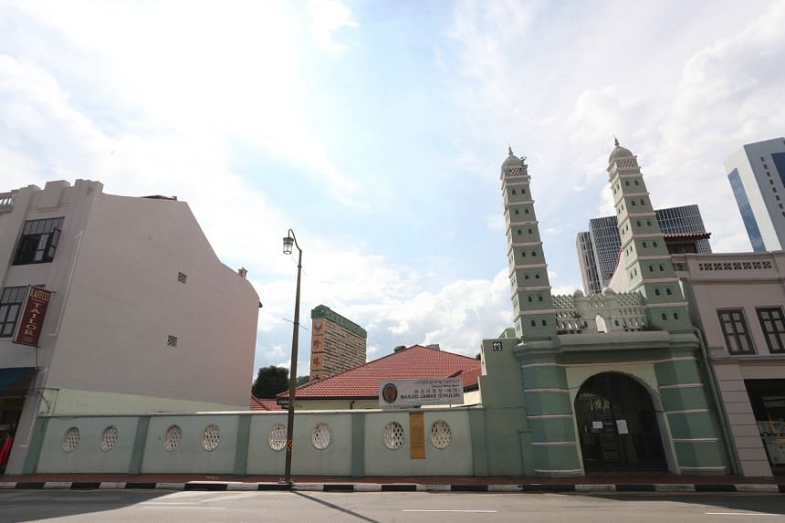 Masjid Jamae (Chulia), one of the 10 mosques visited by five Singaporeans who tested positive for Covid-19.