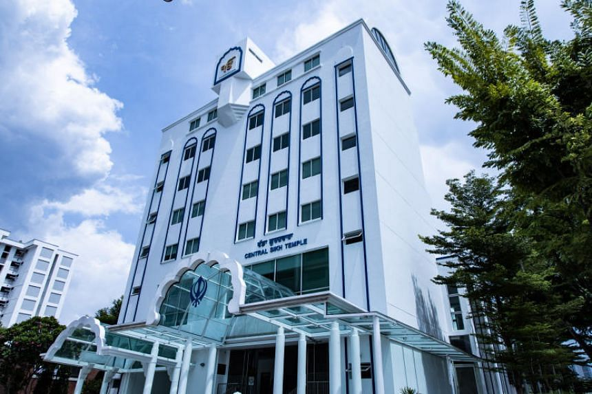Equipment for livestreaming of programmes will be installed at the Central Sikh Temple (above) and Silat Road Sikh Temple over the next four weeks.