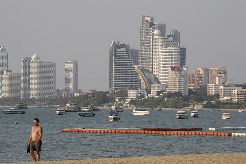 A beach in the Thai city of Pattaya. South-east Asian countries have recorded their highest rate of infections in recent days as testing has ramped up, in a sign seasonal factors may only play a limited role in coronavirus' spread.