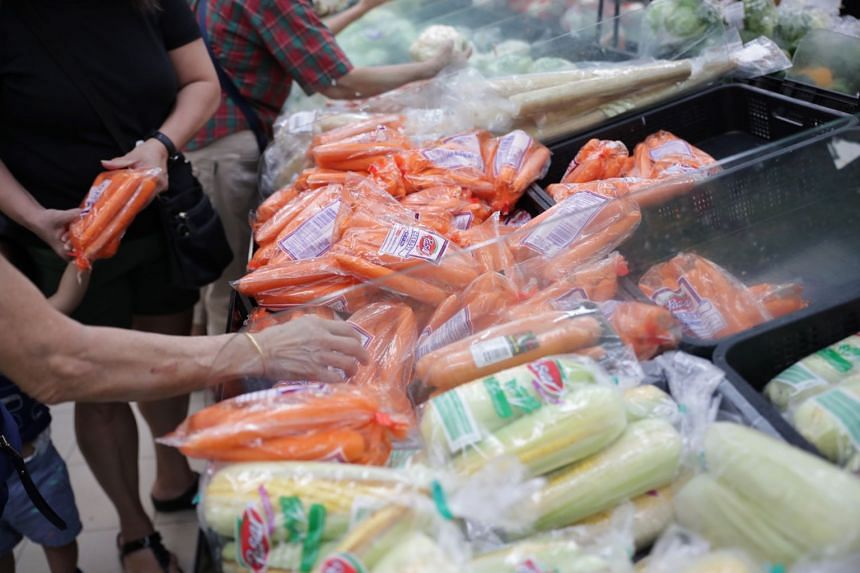 Each customer can buy up to four units of paper products (toilet paper, facial tissues and kitchen towels), two units of instant noodles or pasta, two bags of rice, $30 worth of vegetables, $30 worth of poultry and 30 eggs.