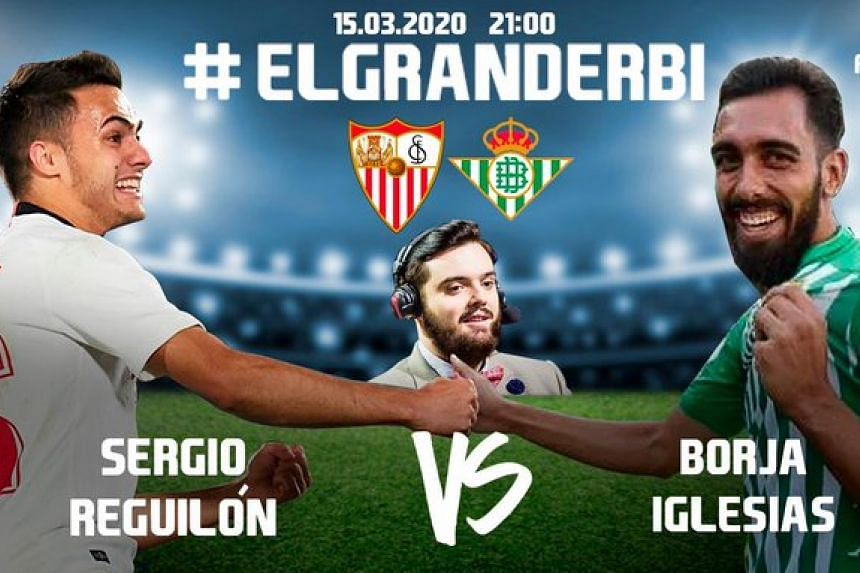 La Liga players Borja Iglesias and Sergio Reguilon found a novel way to attract 60,000 online fans - by battling out a thrilling Seville derby on the Fifa 20 video game.
