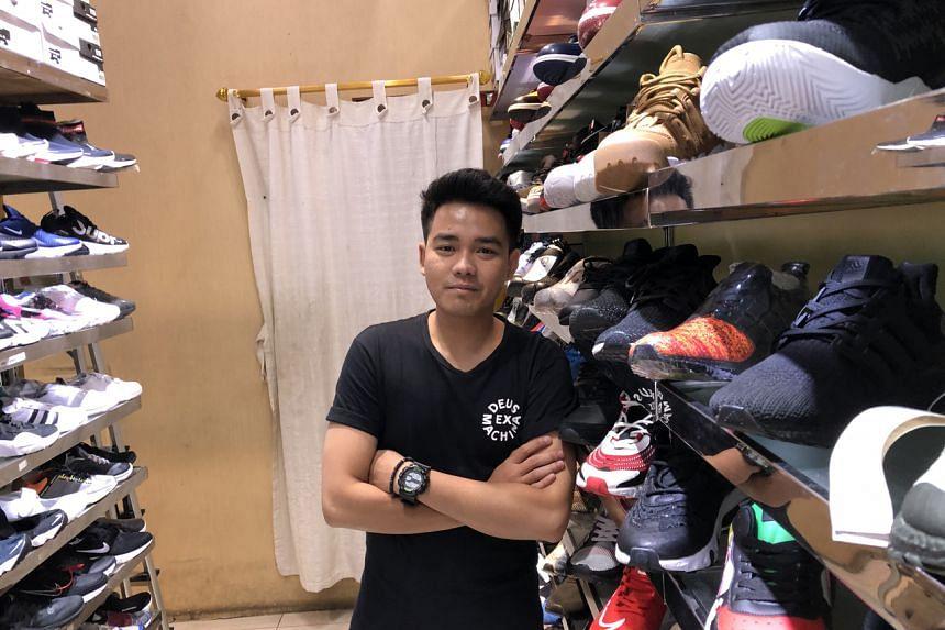 Mr Ranggi Hardiyanto at his athletic shoe store at the Ambassador Mall in downtown Jakarta.