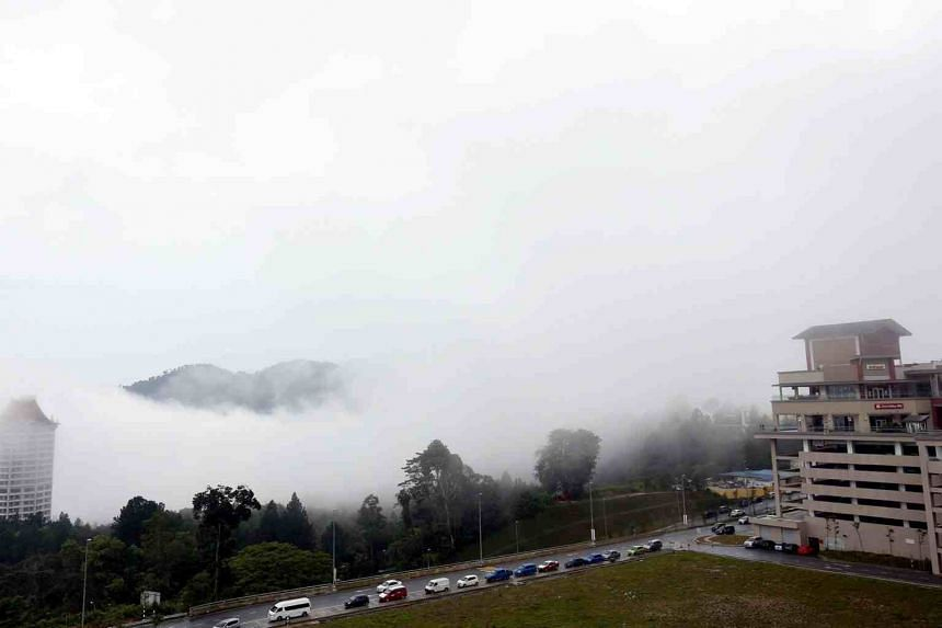 Resorts World Genting is located in the Genting Highlands, about an hour's drive from Kuala Lumpur, at the border between Selangor and Pahang states.