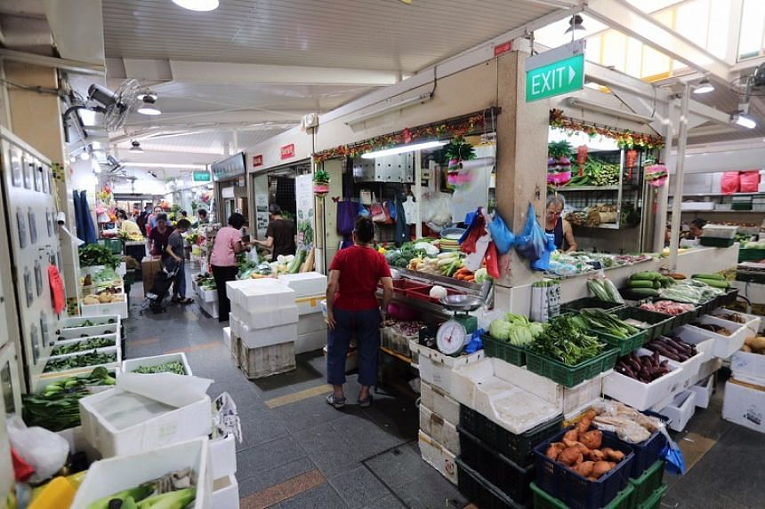 A wet market in Clementi as seen on the morning of March 17, 2020.
