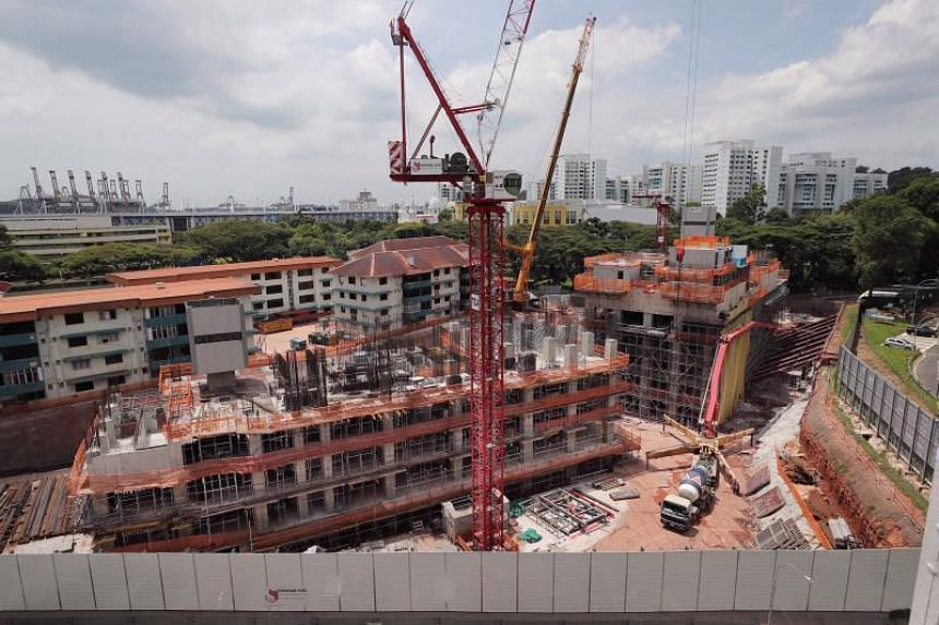 United Tec Construction, the main contractor for Avenue South Residences (above), is one of the contractors scrambling to find accommodation for their Malaysian workers so that they won't be stuck in Malaysia for at least two weeks.