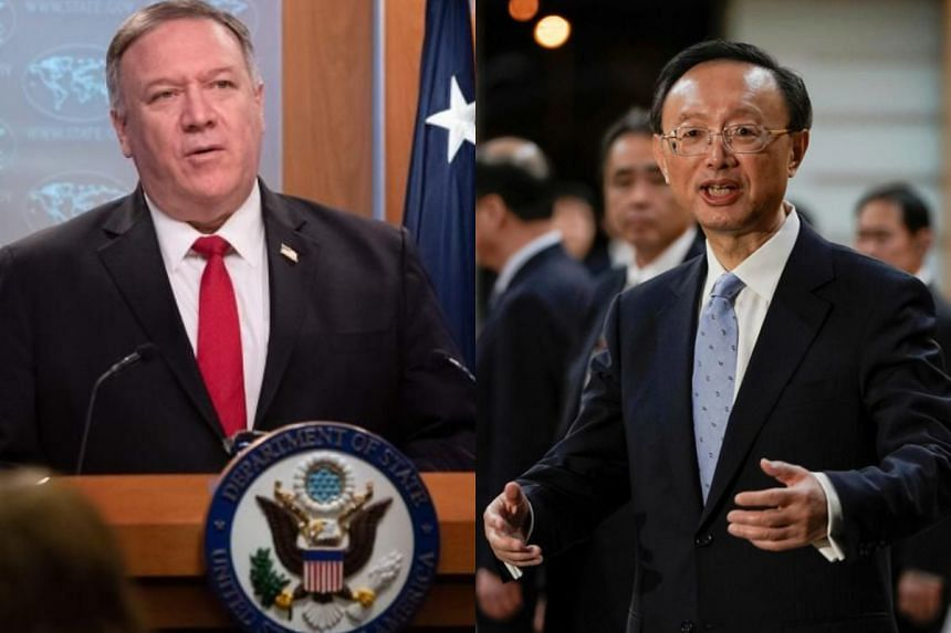 "US Secretary of State Mike Pompeo, in a phone call he initiated with top Chinese official Yang Jiechi, voiced anger that Beijing has used official channels ""to shift blame for Covid-19 to the United States""."