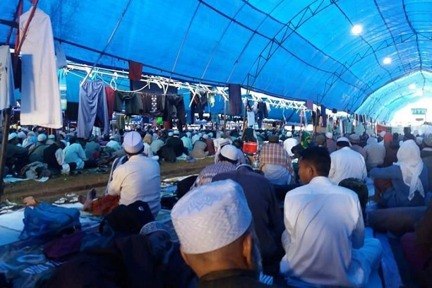 Images on the Facebook account Aalmi Tablighi Shura Elders showed the Indonesia site in Gowa, near the provincial city of Makassar, where thousands of pilgrims had gathered for an event.