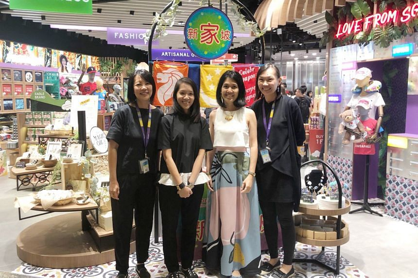 Ms Adriana Lim Escano (second from right) started Abry to help the marginalised community find employment, develop their talents and provide a platform to ensure they can earn a living while taking care of their families.