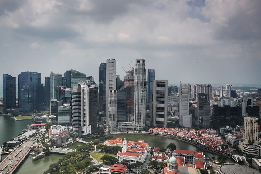 A view of the CBD in Singapore, on March 12, 2020.
