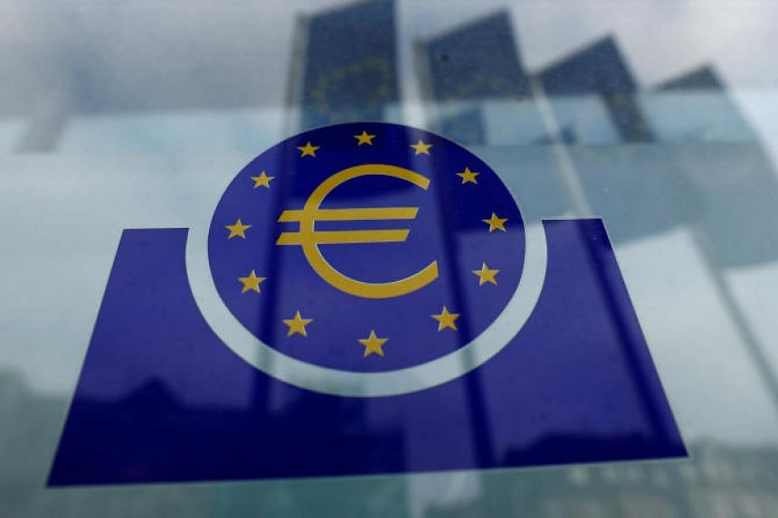 The European Central Bank logo is pictured in Frankfurt, Germany, on Jan 23, 2020.