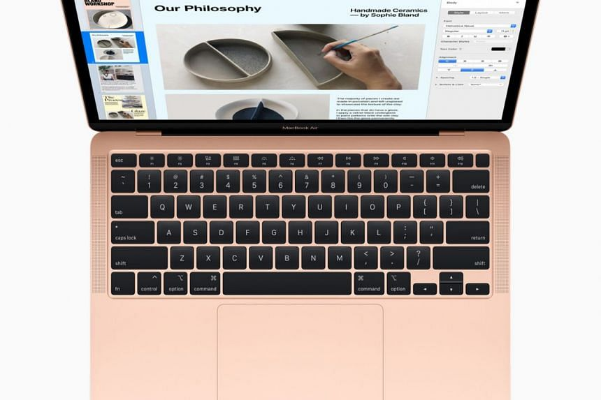 Apple has refreshed its MacBook Air laptops with the latest Intel processors and a re-designed keyboard. PHOTO: APPLE