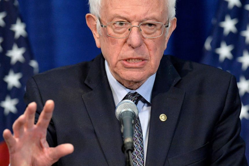 Bernie Sanders speaking to the press after losing much of super Tuesday to Biden, on March 11, 2020.