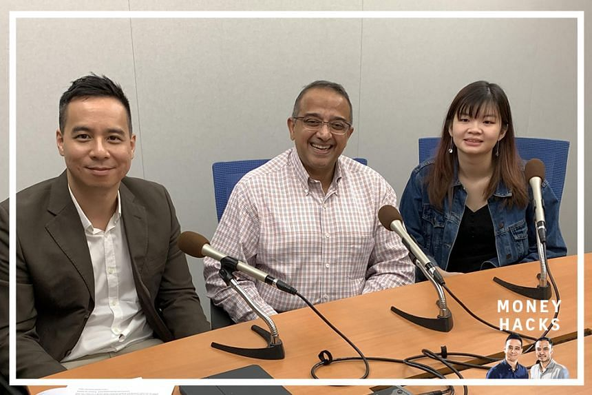 (From left) In this sponsored Money Hacks podcast aimed at millennials and students wanting to achieve immediate life goals, Chris Lim hosts Vasu Menon, OCBC Bank's senior investment strategist, Wealth Management Singapore, and 19-year-old Lim Li S