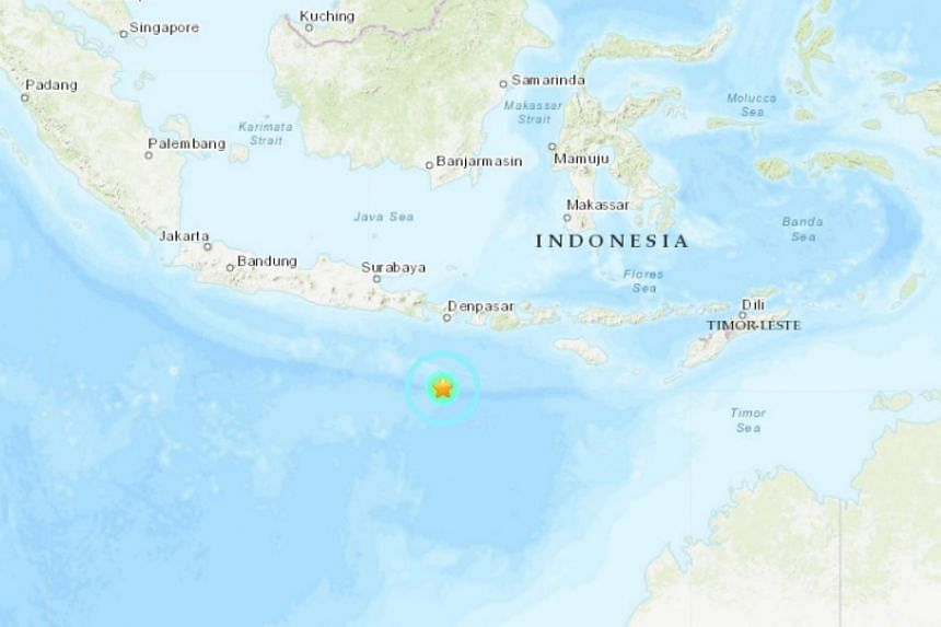 The quake struck at 1.45am (1.45am Singapore time) with an epicentre 255km south of the town of Nusa Dua.