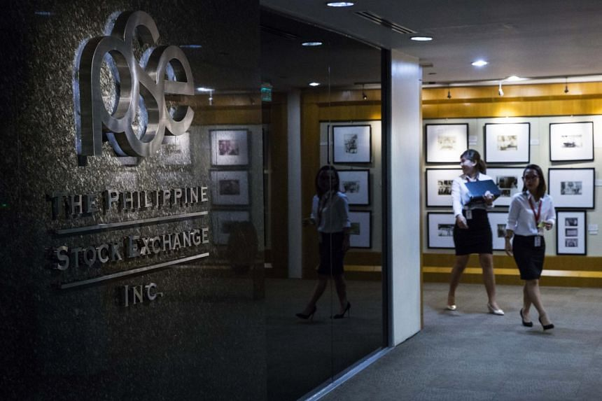 The Philippine Stock Exchange Index opened with a 24 per cent drop in Manila.