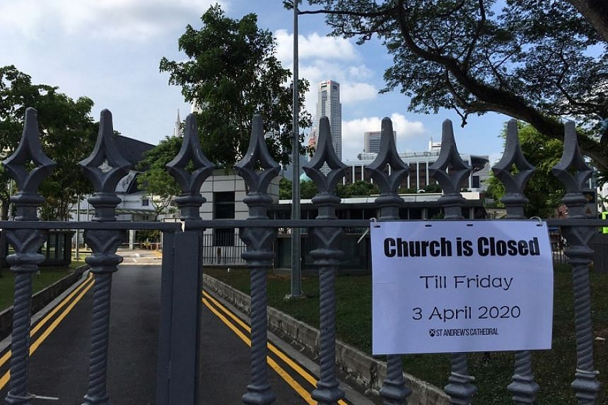 St Andrew's Cathedral, located next to City Hall, will be closed from 11.59pm on March 18, 2020, to 11.59pm on April 3.