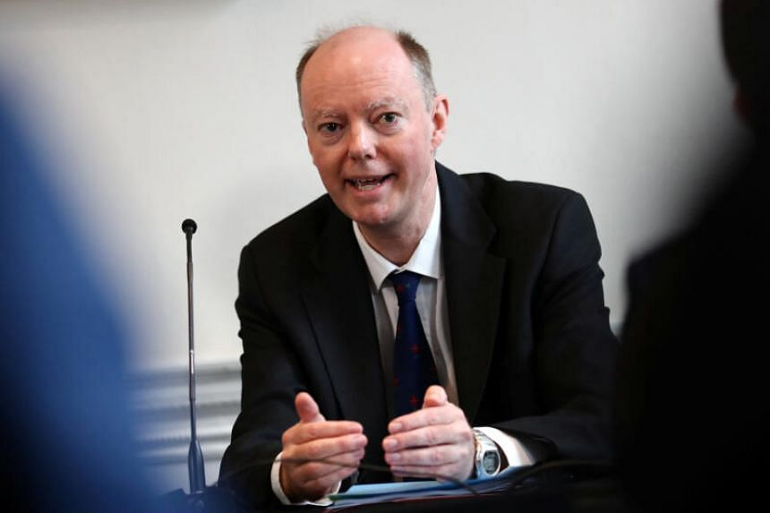 Chief Medical Officer for England Chris Whitty speaks at a briefing on Covid-19 measures in London, on March 19, 2020.
