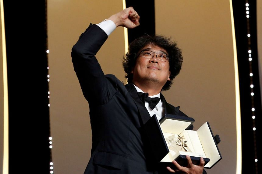 A May 2019 photo shows director Bong Joon-ho, winner of the Cannes Palme d'Or award for his film Parasite.