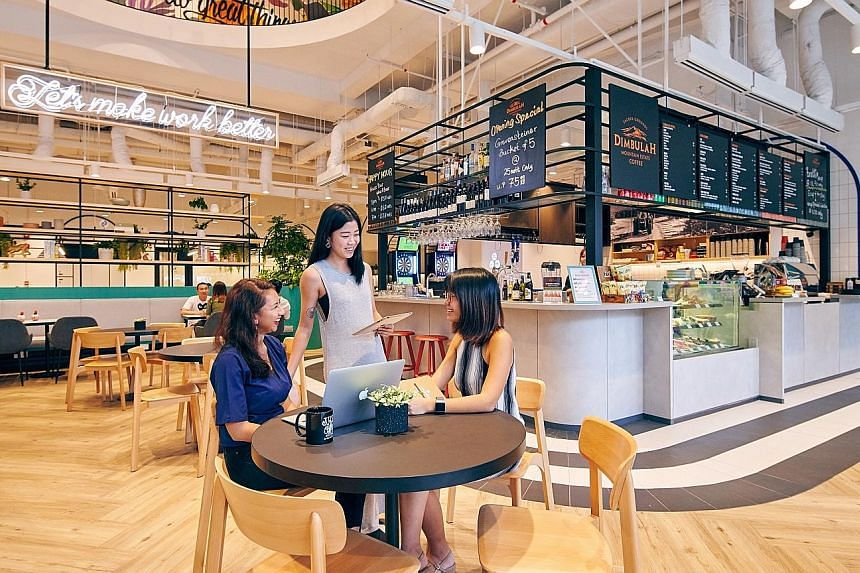 JustCo's co-working space at 20 Collyer Quay. The Singapore-based workspace operator, which has 17 offices here and two more opening later this year, said the coronavirus situation has not dampened interest in its office spaces. Like other operators,