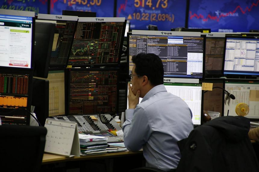 Korea's Kospi 200 index of shares sank by as much as 9.1 per cent on Thursday.